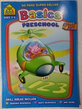 School Zone - BASICS PreSchool workbook for early learning 96 page super deluxe