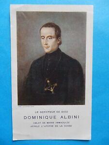IMAGE PIEUSE SANTINO  DOMINIQUE ALBINI APOTRE DE LA CORSE MENTON AJACCIO