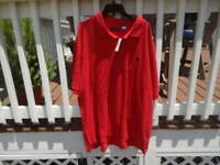 New with tags Chaps orange short sleeve polo style shirt size 4xlt