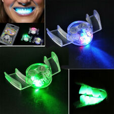 Flashing LED Light Up Mouth Braces Piece Glow Teeth For Halloween Party Rave