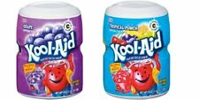 Kool-Aid Grape & Fruit Punch Soft Drink Mixes 538g (One of Each Tub)