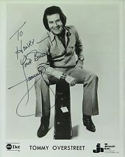 Tommy Overstreet Country Music Legend, Original Autographed B&W Photograph