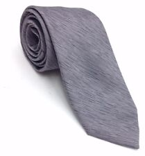 $100 TALLIA Men SOLID GRAY SILK SLIM NECK TIE SKINNY SUIT CLASSIC NECKTIE 60x3