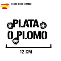 pegatina plata o plomo pablo escobar vinyl sticker racing decal