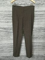 NEW F&F Brown Black Check Pattern Cigarette Trousers With Ankle Zips Size 8