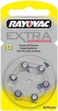 60 pile rayovac extra advanced misura 10 apparecchi acustici senza mercurio
