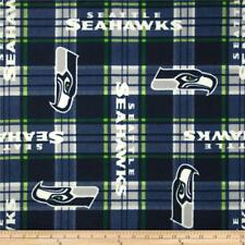 NFL Fleece Seattle Seahawks Plaid Fabric by the yard