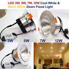 New 3W 5W 7W 12W COB LED Ceiling Downlights Angle Adjustment Recessed Spotlights