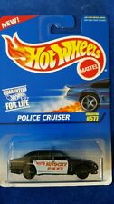 Hot Wheels 1995 #577 Police Cruiser black & white w/ 7 spoke rims