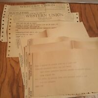 Vintage 1965 Western Union Telegram Lot Congratulations Theater Play Break a Leg