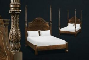 Two Poster Queen Bed for Traditional Bedroom ~ Mahogany Finish
