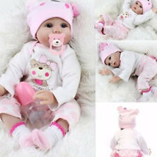 Bambole Hot Sale Lifelike Silicone Reborn Baby Doll Baby Girl Doll Playmate 22""