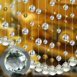 10pcs Clear Glass Crystal Chandelier Ball Water-Drops Home Decor Pendant 25mm US