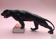 Bronze-Kunst: Schwarzer Panther Panter Leopard Jaguar Puma M. le Verrier? ~1920
