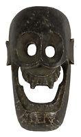Maschera Citipati Testata Da Morto Legno Dipinto - Himalaya-Animista Sciamano -