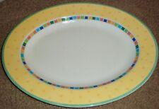 "14"" Villeroy & Boch Twist-Alea Limone large oval fine china serving platter"