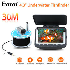 "Eyoyo 30M 4.3"" Ice/Sea/Boat/Ocean Fishing Rod Camera Fishfinder IR Night Vision"