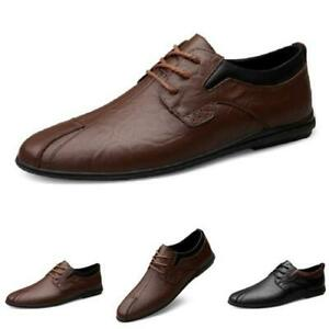 Mens Round Toe Walking Driving Moccasins Faux Leather Business Leisure Shoes L