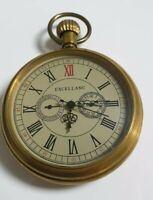 Excellanc Mechanisch Taschenuhr Metall bronze Analog römisch Mineralglas Uhr
