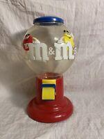 M&M Candy Dispenser Gumball Machine Classic Logo Original Mars M&Ms Pull Lever