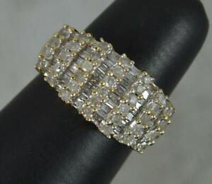 Bling 1.00ct Diamond 9 Carat Gold Cluster Ring