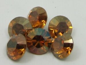 12pc 39ss COPPER FOILED POINTED BACK European Rhinestones