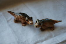 Vintage GNCO Japan Florida Alligator Salt and Pepper Shakers Original Tags