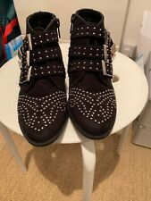 Black Studded Girls Boots Size 29
