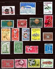 ZY406  20 timbres oblitérés de la série EUROPA:Italie et Belgique