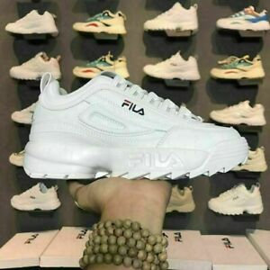 FILA Disruptor II 2 Sneaker Casual Athletic Walking Womens Mens Gym Sports Shoes