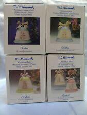 Rare! 4 (1993-1996) Goebel Hummel Christmas Bell Ornament Collector Edition M