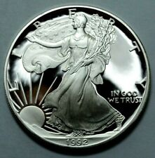 1992-S DCAM Proof US Coin American Silver Eagle Dollar 1 oz Liberty , No Reserve
