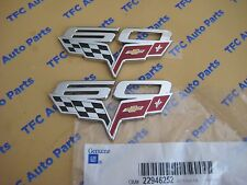 2 Chevrolet Chevy Corvette 60th Anniversary Fender Emblem Genuine OEM GM  2013