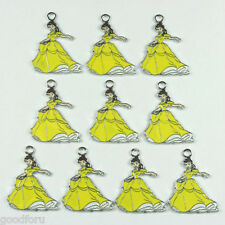 Lot Wholesale 10pcs Princess Belle Metal Charm Pendants DIY Jewelry Making Craft