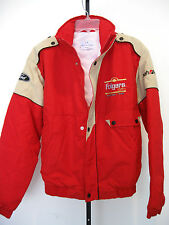 FOLGERS COFFEE RACING TEAM RED / BEIGE JACKET BOYS SIZE M, NWOT