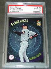 2001 TOPP'S DEREK JETER A LOOK AHEAD #LA2 PSA GEM 10 POP 7   YANKEES