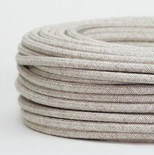 Textilkabel Stoffkabel Lampen-Kabel kiesel 3-adrig Stromkabel Elektrokabel