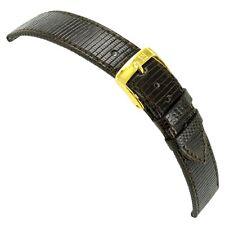18mm Morellato Genuine Lizard Brown Flat Stitched Watch Band 858