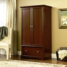 New Sauder Furniture Palladia Armoire Wardrobe Closet Cherry Finish