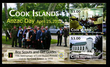 Cook Islands - Anzac Day / Anniversaries of Boy Scouting and Girl Guides SS