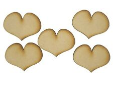 MDF Heart Wooden Shapes 3.5cm 35mm High 3mm Thick Custom Cut x 20 pieces 052