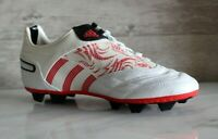 Adidas Predator Absolado X FG J White Leather Soccer Cleats RARE 38 Boots US-5.5