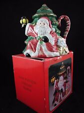 Santa Ceramic Tea Pot Christmas Tree Holiday Lantern Toys World Bazaars