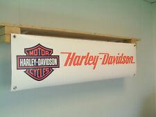 Harley Davidson Motorcycle Banner Sign Workshop pvc poster