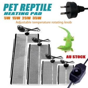 Pet Electric Heating Pad Bed Heat Mat Reptile Heated Warmer Tortoise Heater 35W