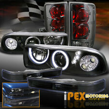 For Chevy Blazer Black Projector Headlights + Soft-Smoked Tail Lights + Signals