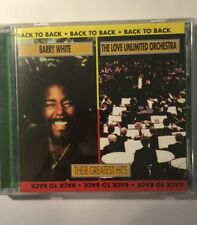 Back to Back: Their Greatest Hits by Love Unlimited Orchestra/Barry White (CD, M