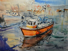Contemporary Art/ Original Painting by American Artist M.hee /Seascape