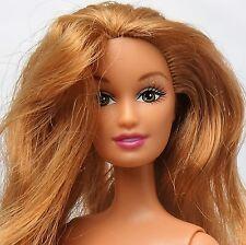 Barbie doll Strawberry blonde Green eyes Belly button Lara Drew sculpt Nude