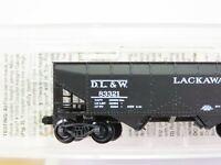 N Scale Micro-Trains Silver MTL 55130 DL&W Lackawanna 33' 2-Bay Hopper #83321